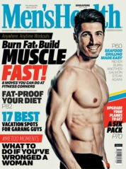 Cover Majalah Men's Health Singapore Juli 2018