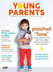 Young parents Singapore Magazine Cover