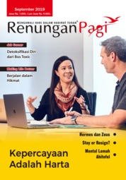 Renungan Pagi Magazine Cover September 2019