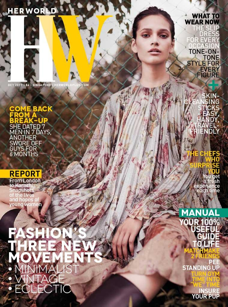 Majalah Digital her world Singapore Oktober 2017