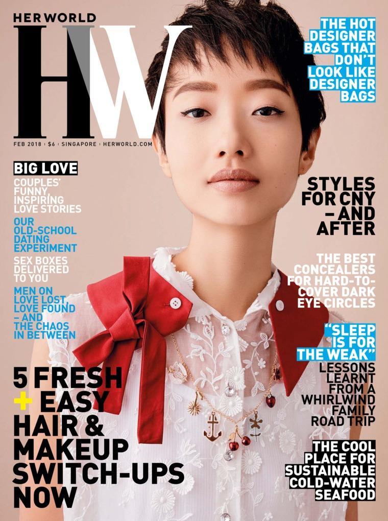 Her world Singapore Digital Magazine February 2018