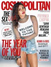 Cover Majalah COSMOPOLITAN Malaysia Januari 2018