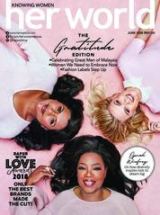 Her world Malaysia Magazine Cover June 2018