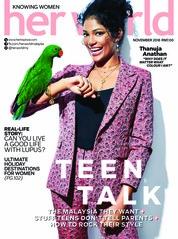Cover Majalah her world Malaysia November 2018
