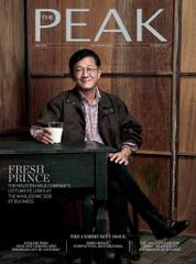 Cover Majalah THE PEAK Malaysia Oktober 2017