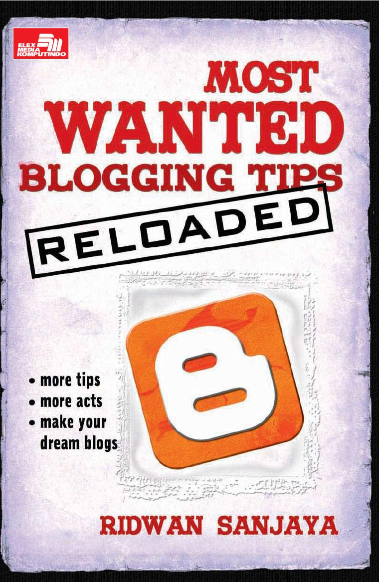 Buku Digital Most Wanted Blogging Tip - Reloaded oleh Ridwan Sanjaya