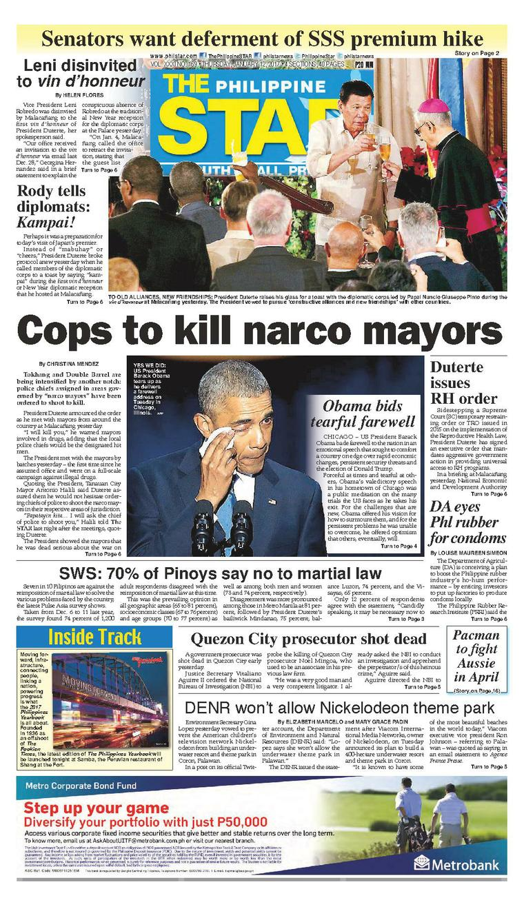 Koran Digital The Philippine Star 12 Januari 2017