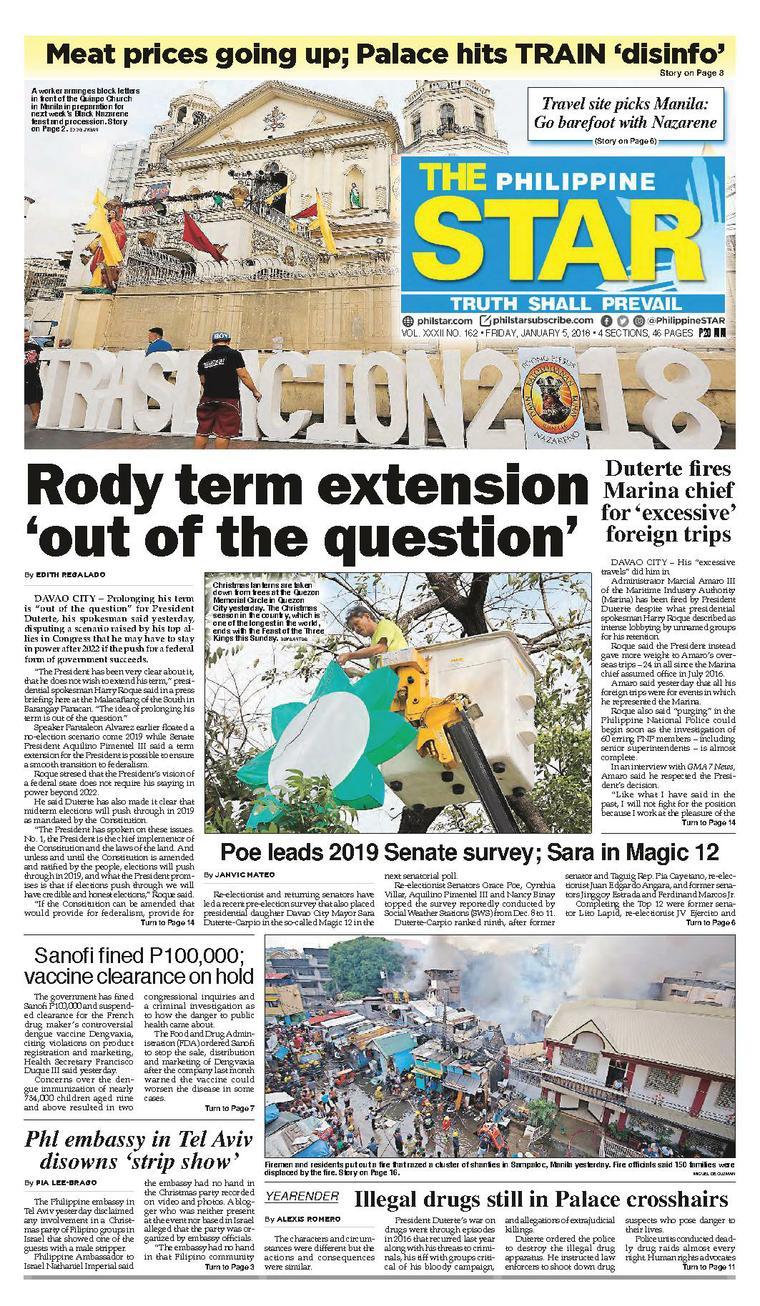 The Philippine Star Newspaper 05 January 2018 - Gramedia Digital