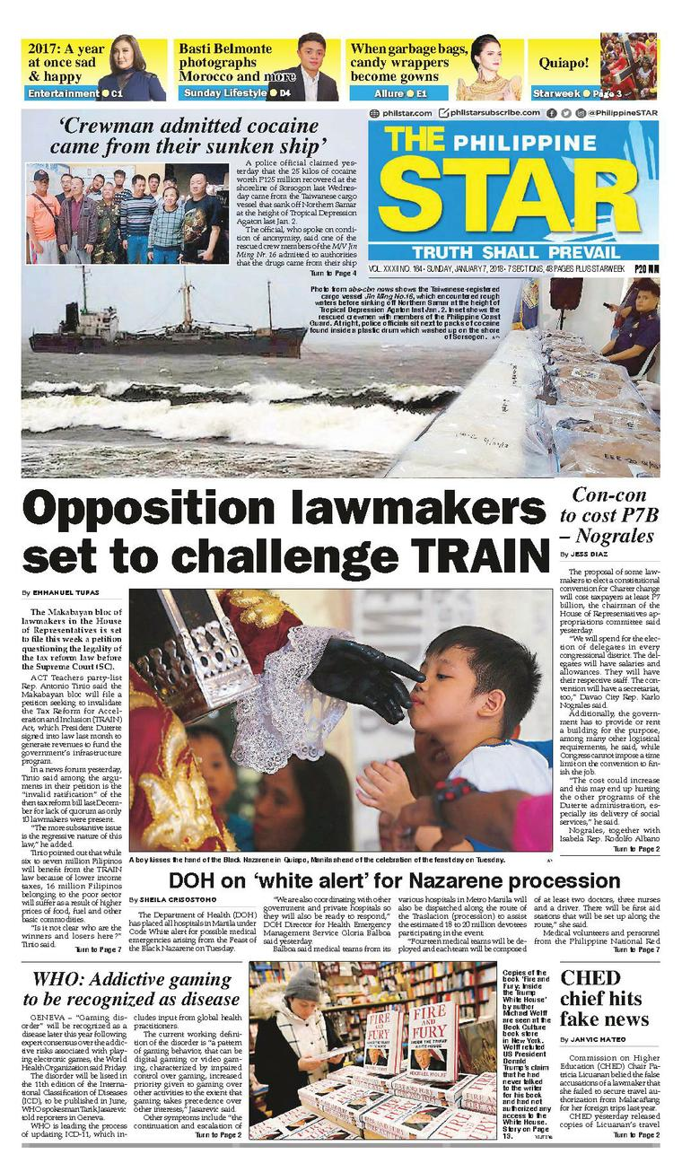 The Philippine Star Newspaper 07 January 2018 - Gramedia ...