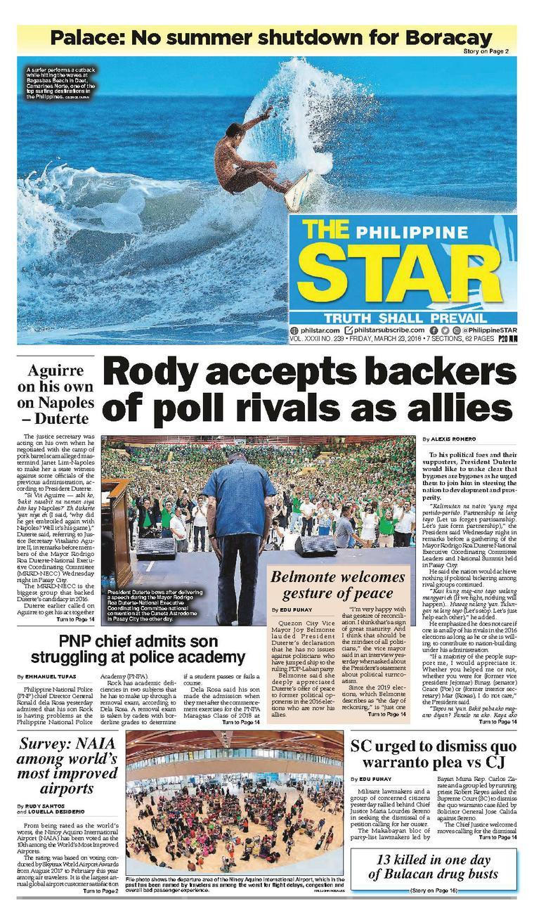 The Philippine Star Newspaper 23 March 2018 - Gramedia Digital