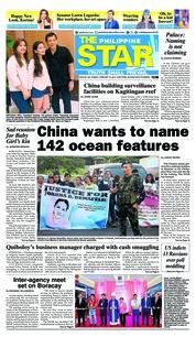 Cover The Philippine Star 18 Februari 2018