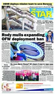 Cover The Philippine Star 21 Februari 2018