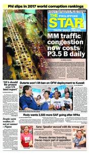 Cover The Philippine Star 23 Februari 2018