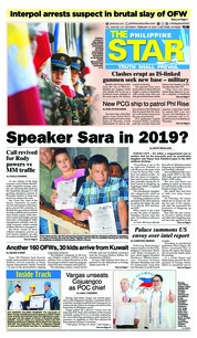 Cover The Philippine Star 24 Februari 2018