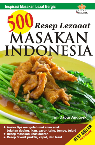 Jual Buku 500 Resep Lezaaat Masakan Indonesia Oleh Tim Dapur Anggrek