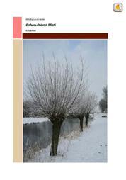 Cover Antologi Puisi: Pohon-Pohon Mati oleh