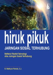 Cover Hiruk Pikuk Jaringan Sosial Terhubung, Refleksi Filsafat Teknologi atas Jaringan Sosial Terhubung oleh B. Melkyor Pando, S.J.