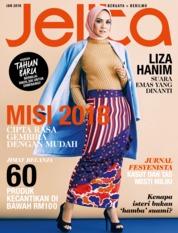 Cover Majalah jelita Malaysia Januari 2018