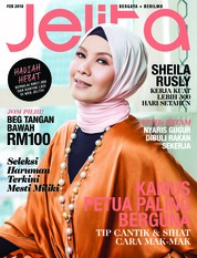 Cover Majalah jelita Malaysia Februari 2018