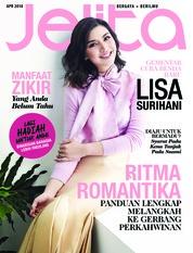 Cover Majalah jelita Malaysia April 2018