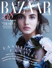Cover Majalah Harper's BAZAAR Singapore Desember 2017