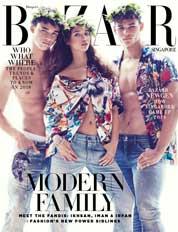 Cover Majalah Harper's BAZAAR Singapore Januari 2018
