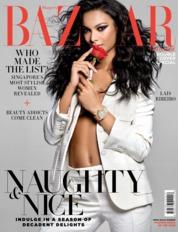 Cover Majalah Harper's BAZAAR Singapore Desember 2018