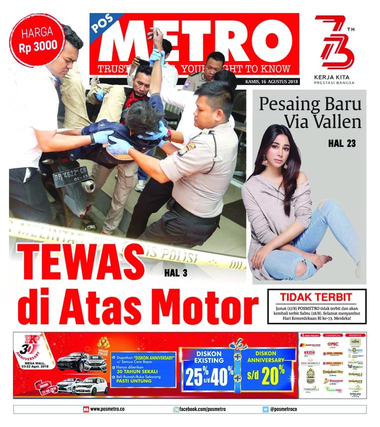 Koran Digital POSMETRO 16 Agustus 2018