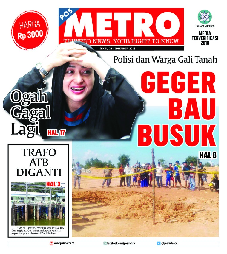 Koran Digital POSMETRO 24 September 2018