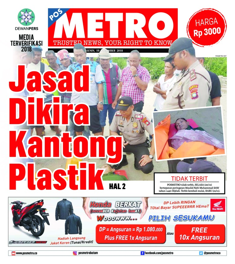 Koran Digital POSMETRO 19 November 2018