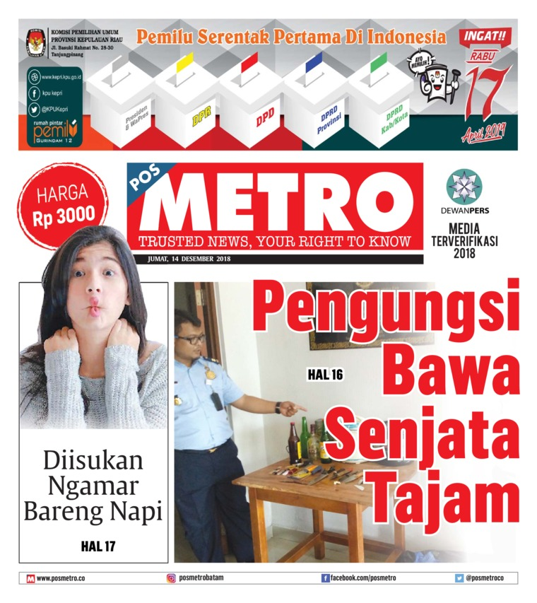 POSMETRO Digital Newspaper 14 December 2018