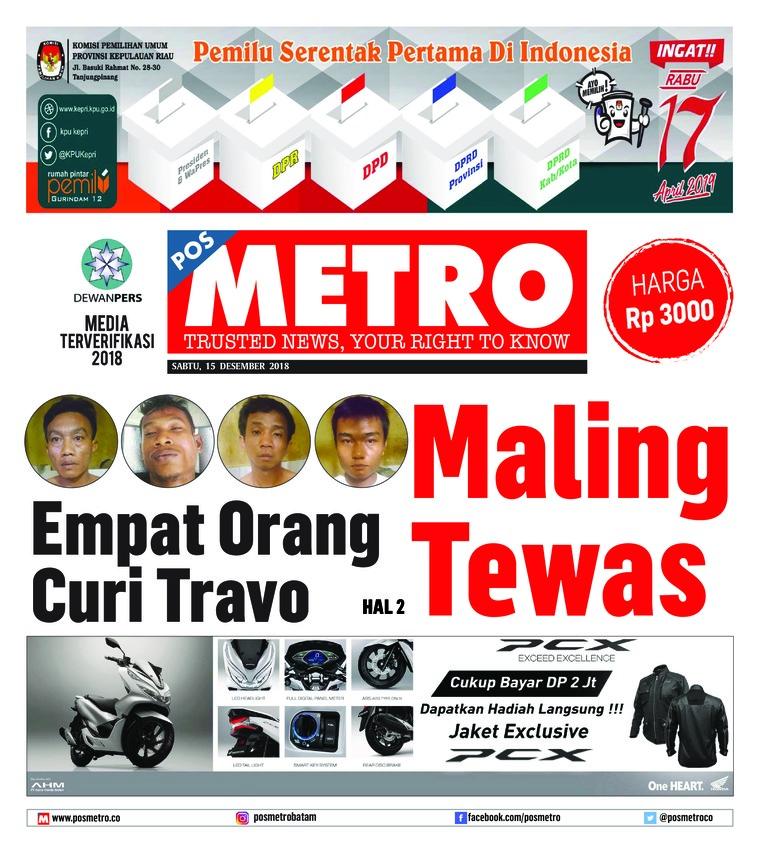 Koran Digital POSMETRO 15 Desember 2018