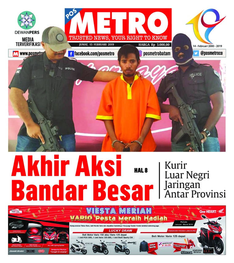 POSMETRO Digital Newspaper 15 February 2019