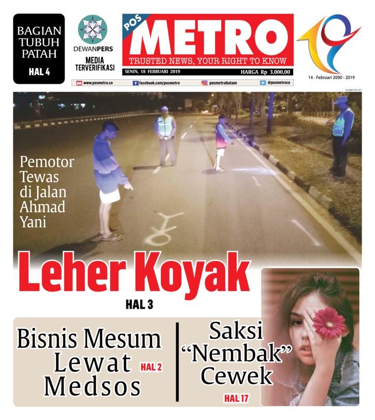 Koran Digital POSMETRO 18 Februari 2019