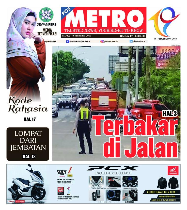 Koran Digital POSMETRO 19 Februari 2019