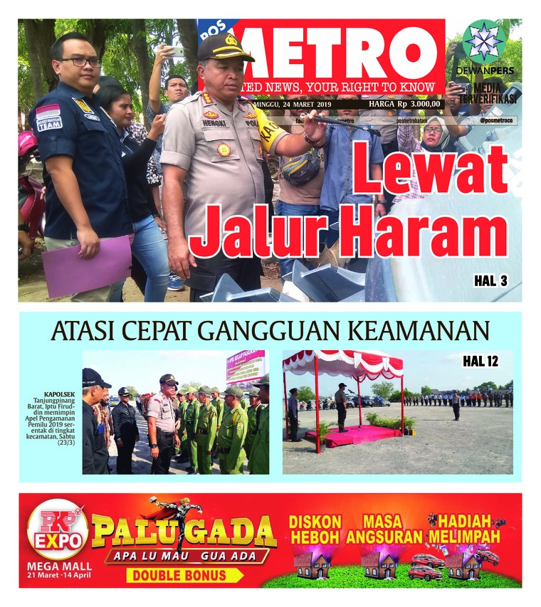 Koran Digital POSMETRO 24 Maret 2019
