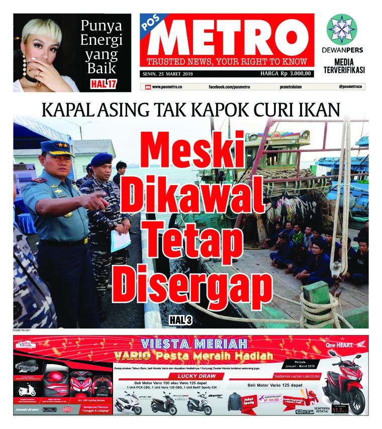Koran Digital POSMETRO 25 Maret 2019