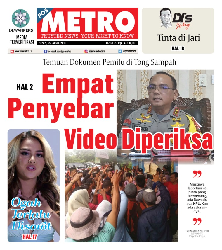 POSMETRO Digital Newspaper 22 April 2019