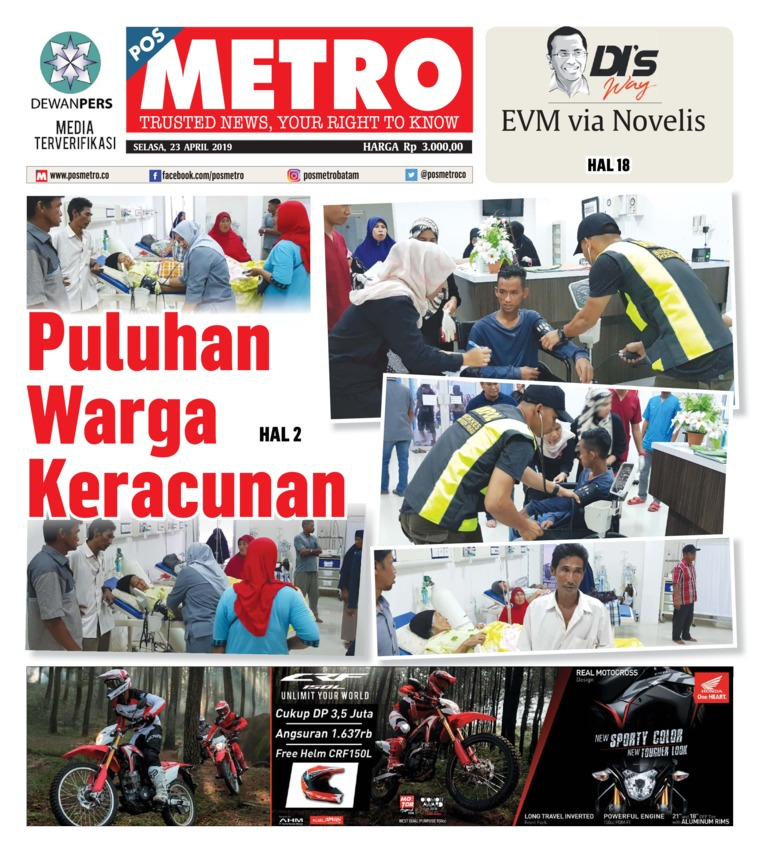 Koran Digital POSMETRO 23 April 2019