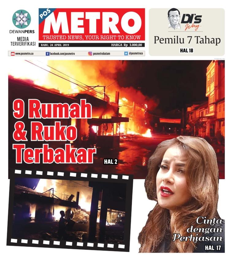 Koran Digital POSMETRO 24 April 2019