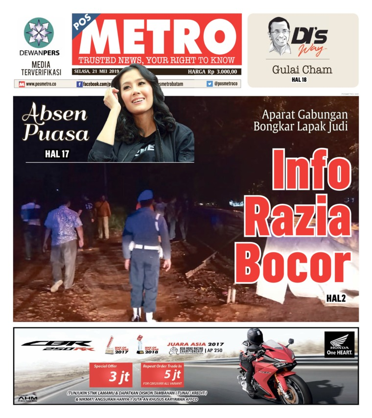 POSMETRO Digital Newspaper 21 May 2019