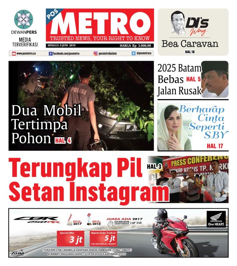 POSMETRO Digital Newspaper 09 June 2019