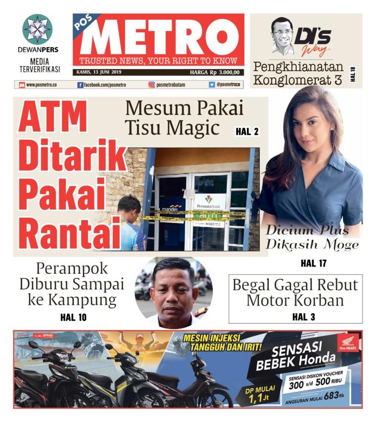 Koran Digital POSMETRO 13 Juni 2019
