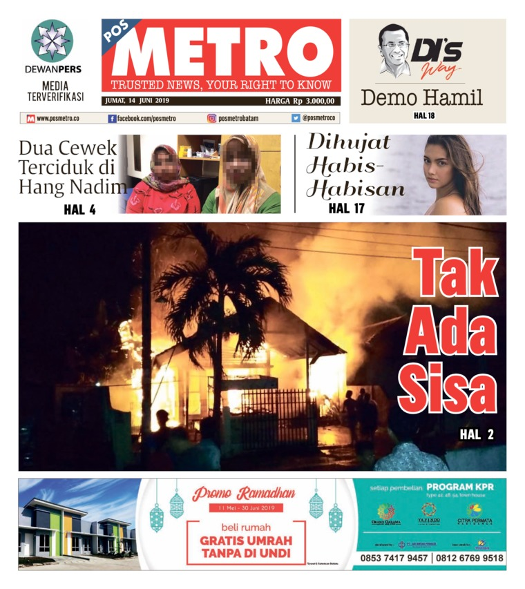 POSMETRO Digital Newspaper 14 June 2019