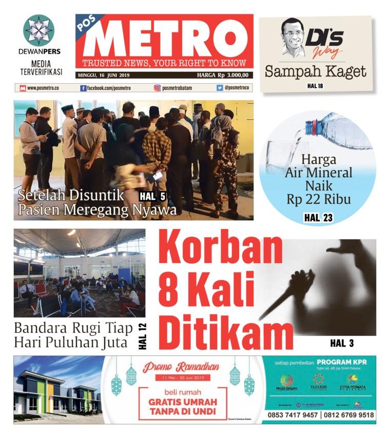 POSMETRO Digital Newspaper 16 June 2019