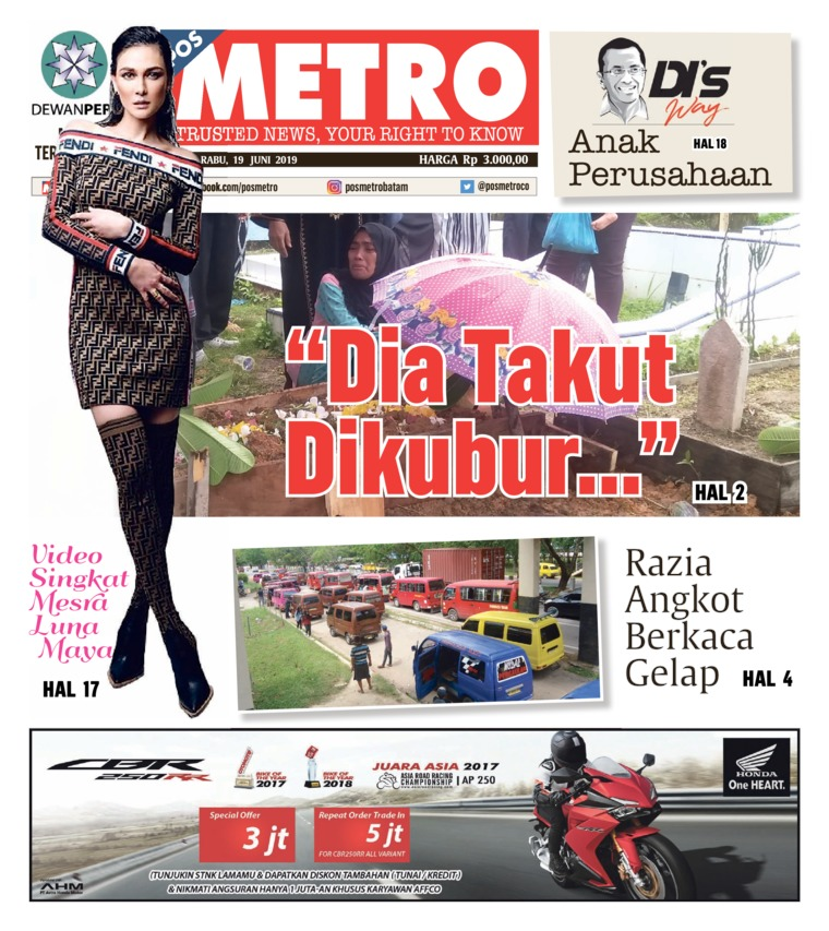 POSMETRO Digital Newspaper 19 June 2019