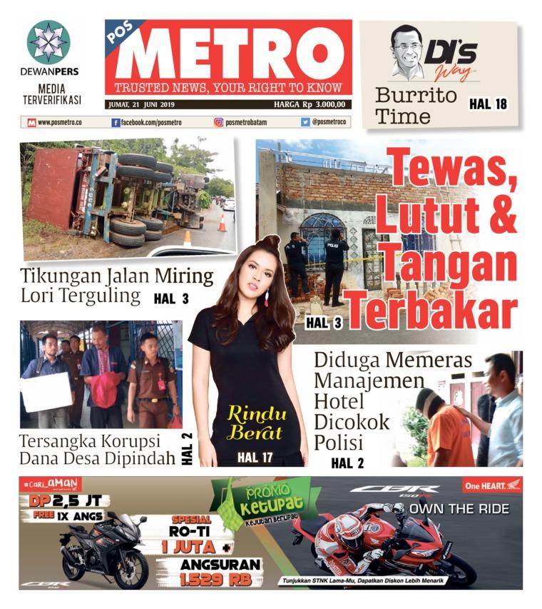 Koran Digital POSMETRO 21 Juni 2019