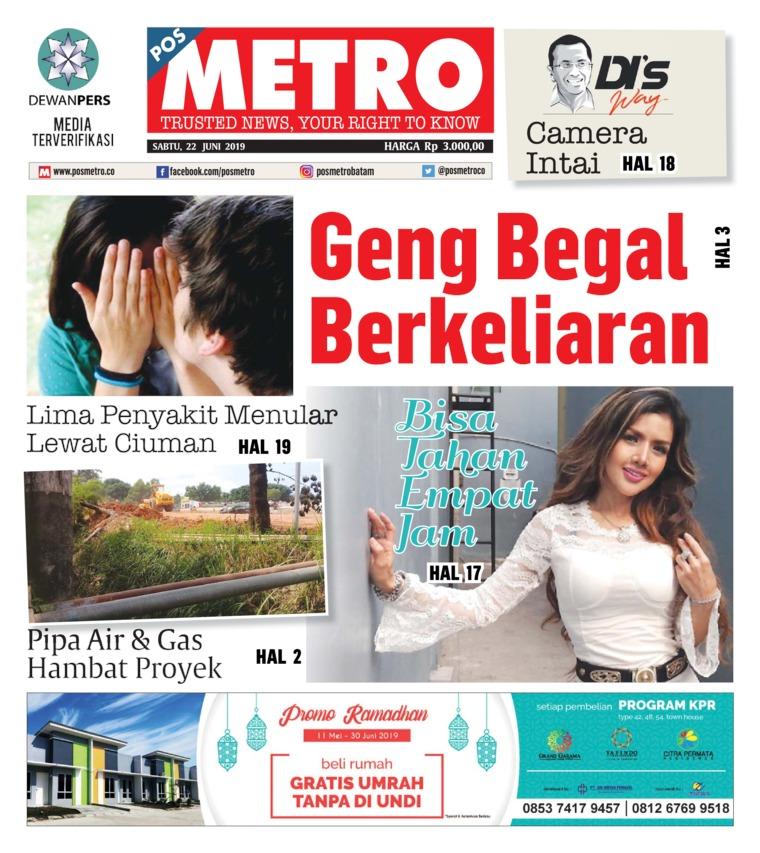 Koran Digital POSMETRO 22 Juni 2019