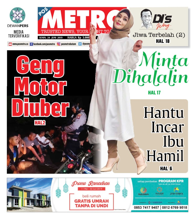 POSMETRO Digital Newspaper 24 June 2019