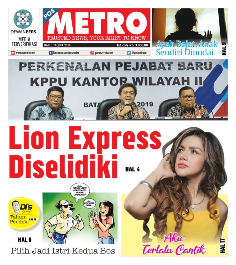 POSMETRO Digital Newspaper 10 July 2019